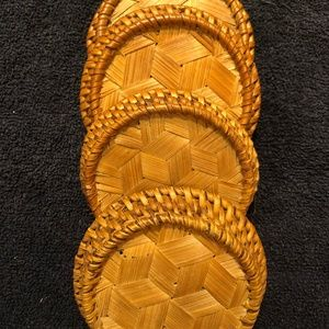 Other - 4 Never-Used Rattan Coasters